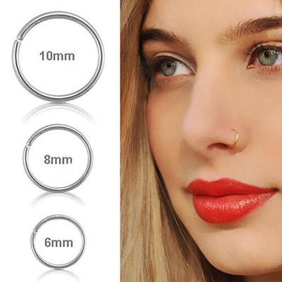 1pc Surgical Steel Thin Small Nose Ring Hoop 0 8mm Cartilage