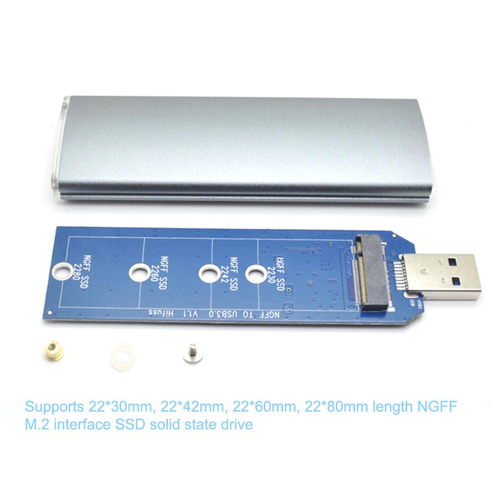 M.2 NGFF SSD to USB 3.0 HDD Converter Adapter Enclosure Case Storage Box with Screwdriver 5Gbps Tra