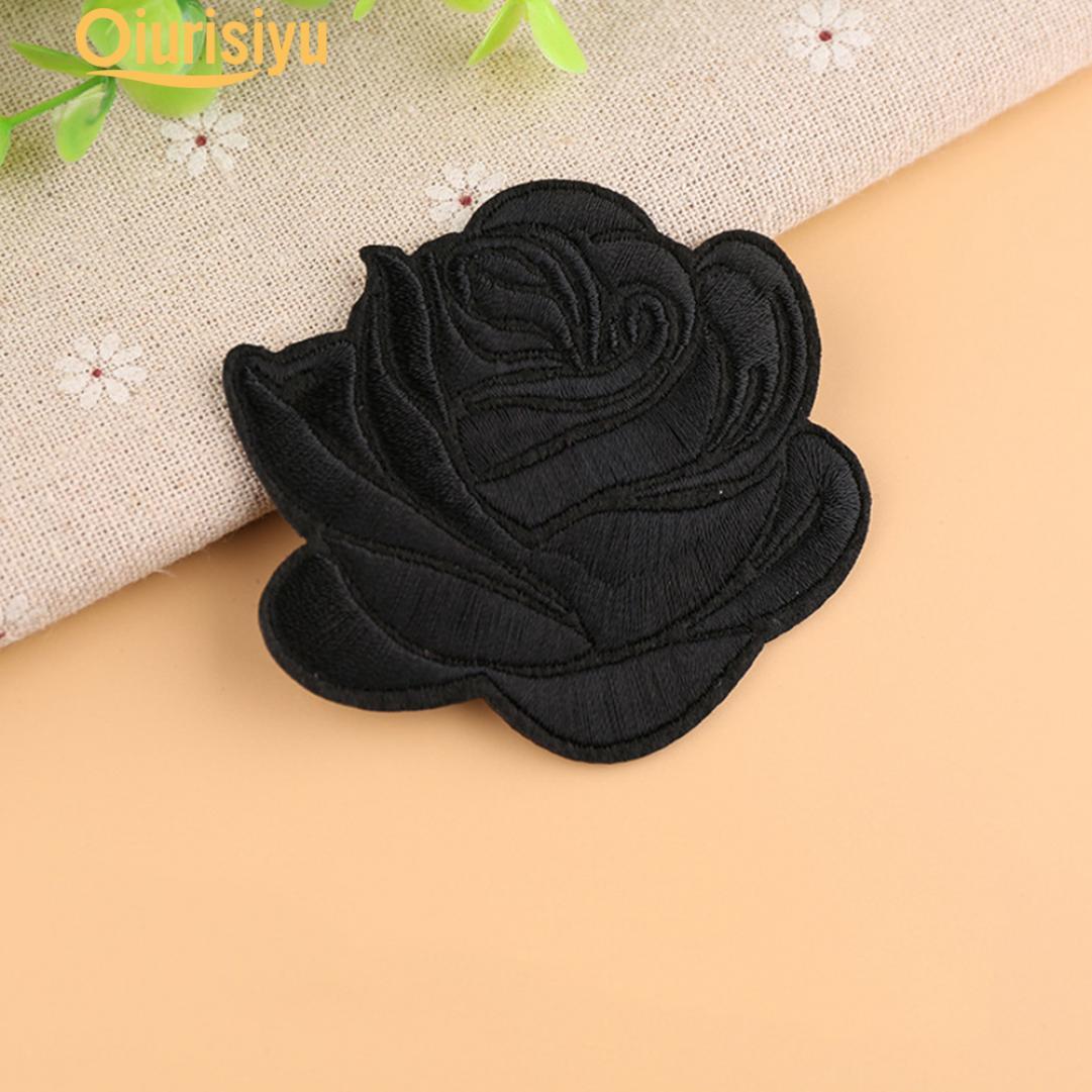 Роза значок железа на патч Украшения Цветок Шляпа Applique Аксессуар фото