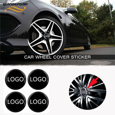 Black 4pcs 56mm Umbrella Corporation for Resident Evil Car Styling Wheel Hub Caps Centre Cover Emblem Badge Sticker Decorative Accessories