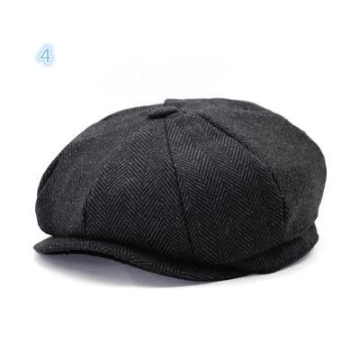 78cfaf10e51c1 Cabbie Newsboy Cap Wool Knitted Lvy Hat Golf Driving Octagonal Beret Unisex  Flat Flexfit Gorros