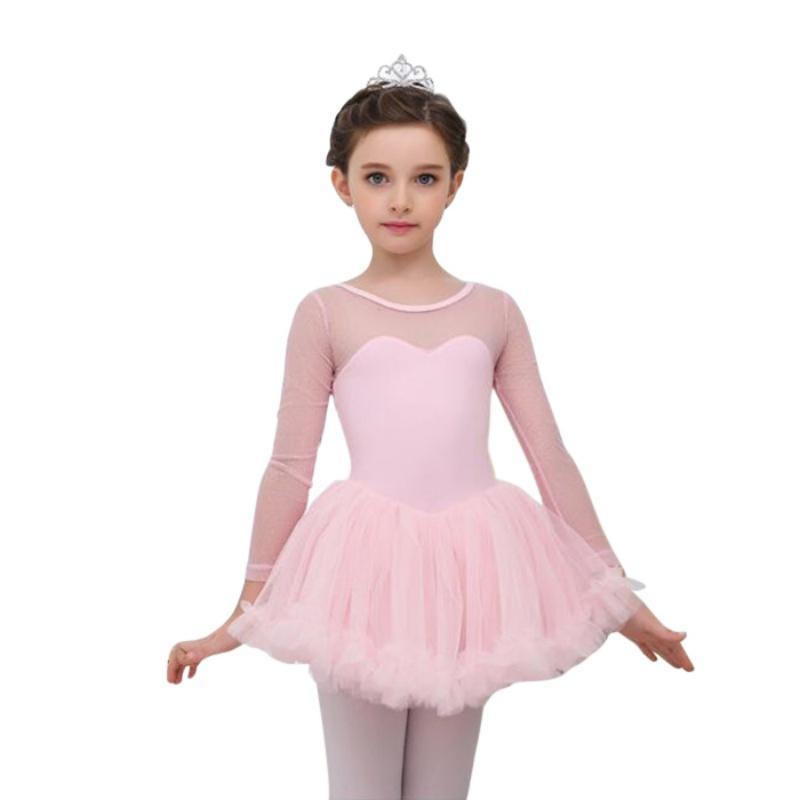 Niños niñas Ballet Tutu vestido gimnasia Leotard falda encaje danza ...