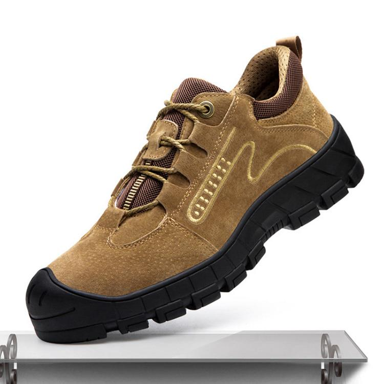 Wisstt Mens Safety Labor Boots Steel Toe Shoes Anti-puncture Indestructible Work