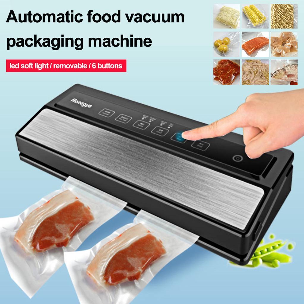 220V Automatic Food Vacuum Sealer Saver Packing Sealing Machine with Storage Bag