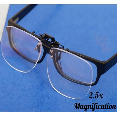 Maijiabao New Clip On Flip Up Magnifying Glasses Spectacles 2.5x Magnification Magnifiers