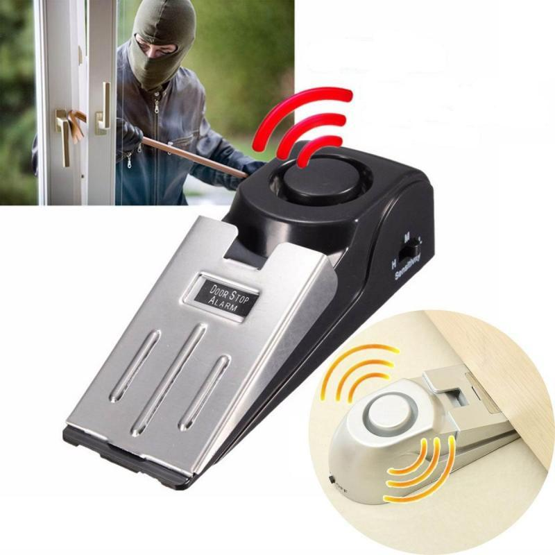 New 120DB Door Stopper Alarm Home Security Floor Doorstop Wedge Warning Alert