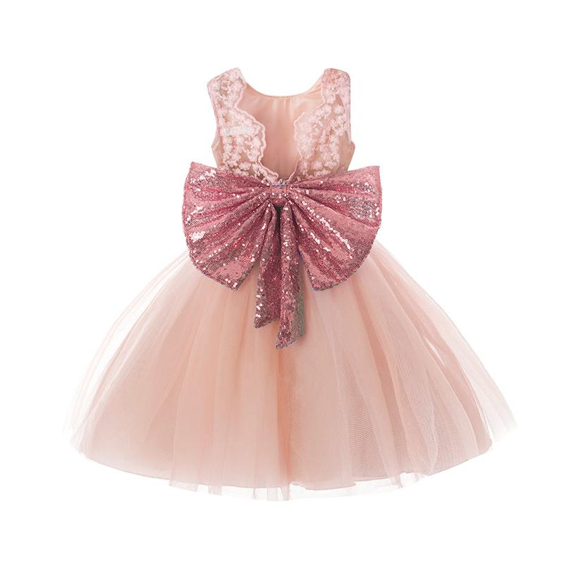 iiniim Baby Girls Long Sleeve Sequins Wedding Birthday Party Princess Flower Girl Tutu Dress Christening Baptism Gown