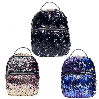 1d6d939f3b19 Женщины девушки мини-пу с блестками Bling путешествия казуальные игры рюкзак  сумка