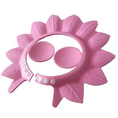 Toddlers Maple Leaf Shape Adjustable Professional Shampoo Baby Hair Bathing Cap Shower Hat
