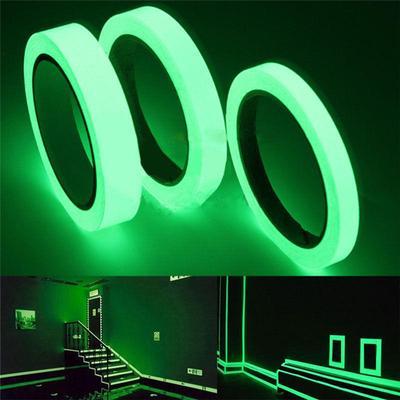20mm 1.4M Luminous Self-adhesive Night Vision Glow In Dark Safety Warning Tape Home Decoration