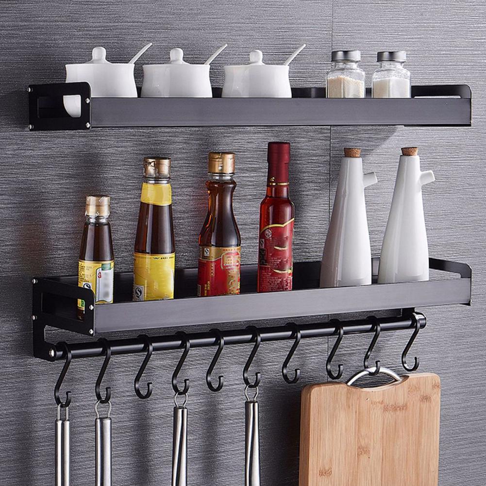 Kitchen Storage Wall Spice Rack Jar Utensil Bottle Hooks Shelf Hanger Organizer Buy From 21 On Joom E Commerce Platform