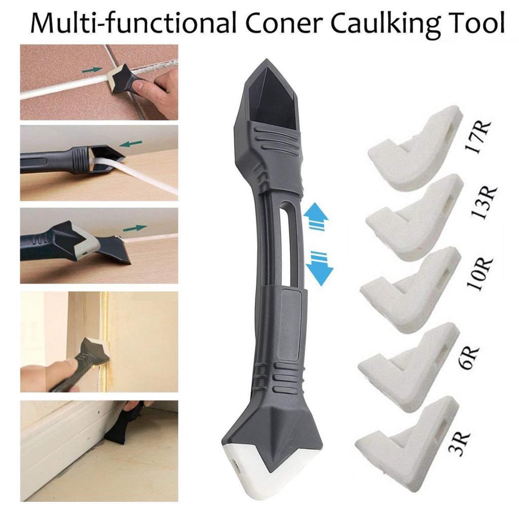 5 Pcs silicone sealent spreader scraper caulking remover grout caulk tool kit