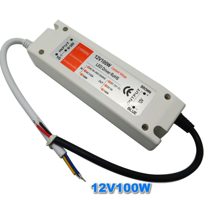 LED Driver Trafo DC 12V Treiber Transformator Treiber Netzteil 8W-100W 90-240V