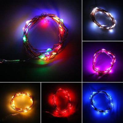 20 Small Micro LED Fairy Lights Copper Wire Button Battery Wedding Bedroom