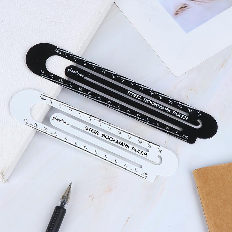 12cm steel ruler metal ruler Metal bookmarks School Supplies Drawing supply PR