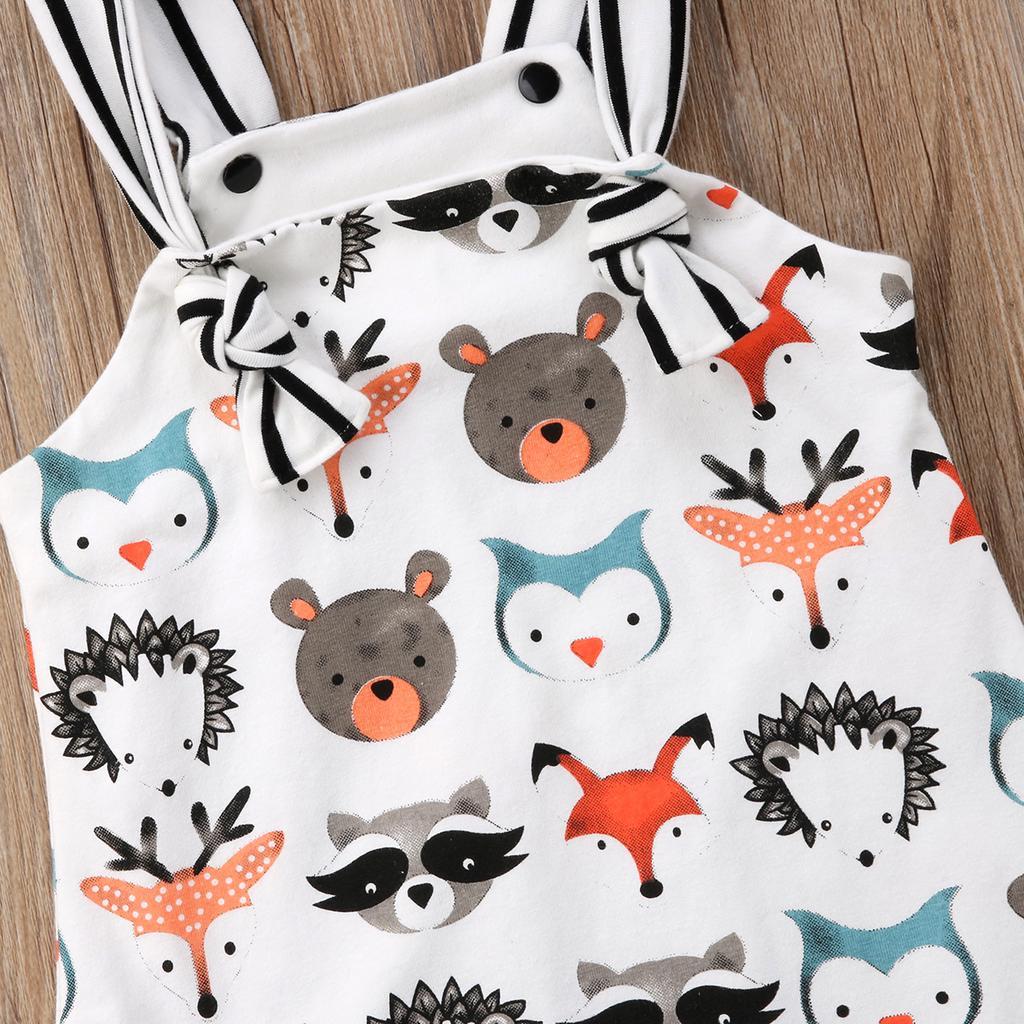 Newborn Kid Baby Girl Cute Animal Print Clothes Jumpsuit Anime ... 39072ff4d