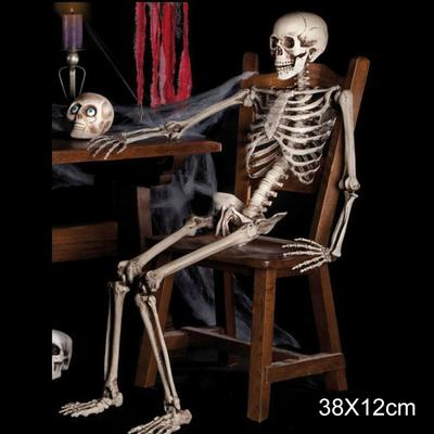 Human Emulate Skull Skeleton Bones Real Life Size Hanging Halloween Props Decor