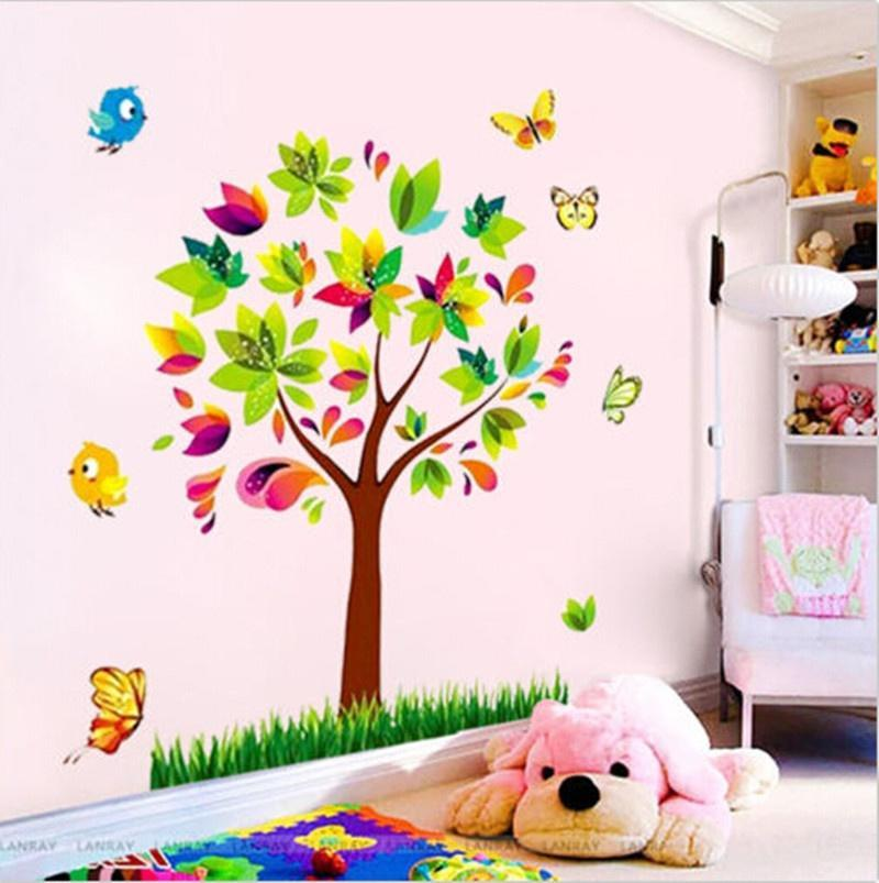 Butterfly Flower Fairy Girl Removable PVC Wall Sticker Home Room Decor Decal RO