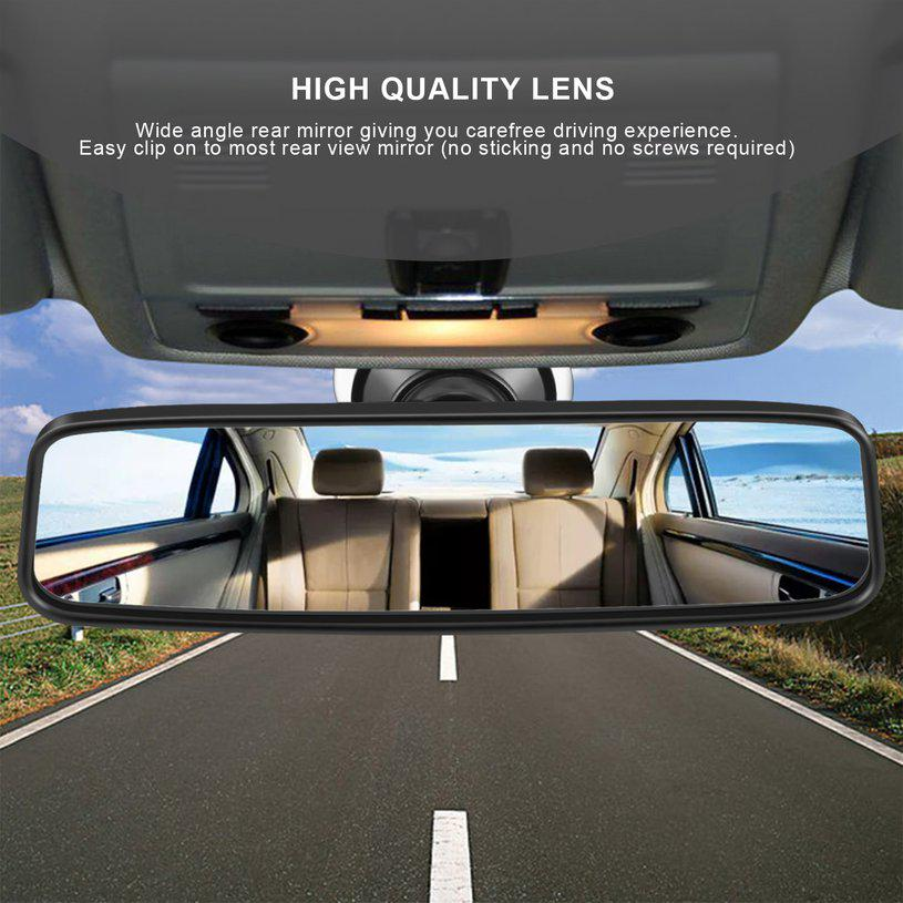 Quality Car Truck Wide Flat Interior Rear View Rearview Mirror Suction Cup