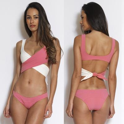 Женщин купальники бикини цвет блока пуш-ап мягкий, пляжная одежда для  купания 93f63b351e9