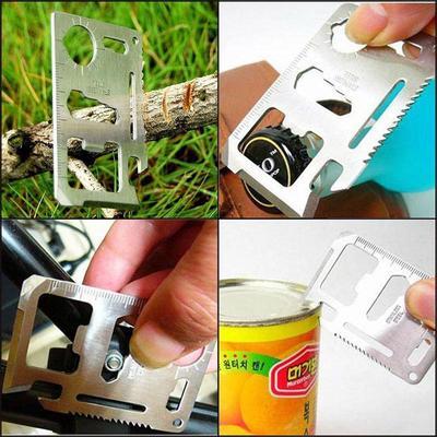 Výsledok vyhľadávania obrázkov pre dopyt multipurpose pocket survival tool 11 functions card knife