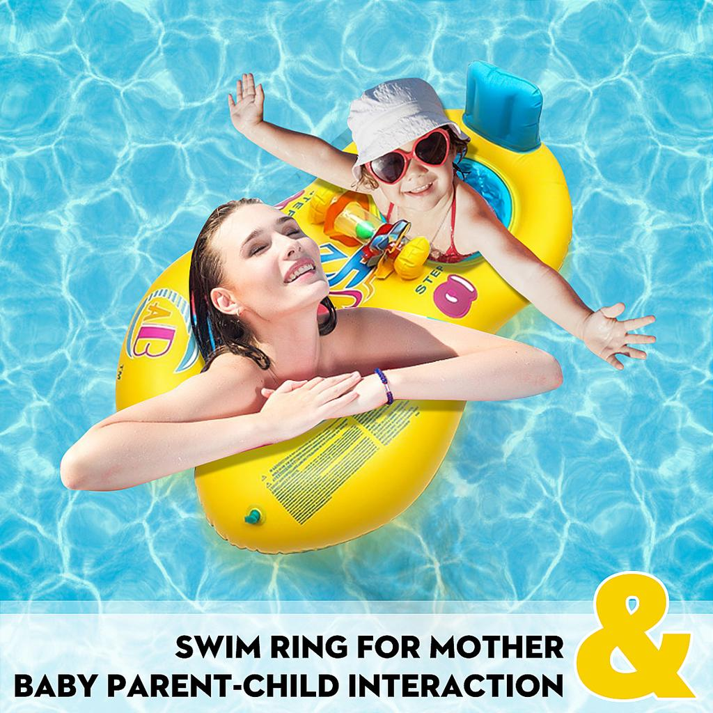 Mother Baby Swimming Ring Inflatable Seat Pool Float Toy