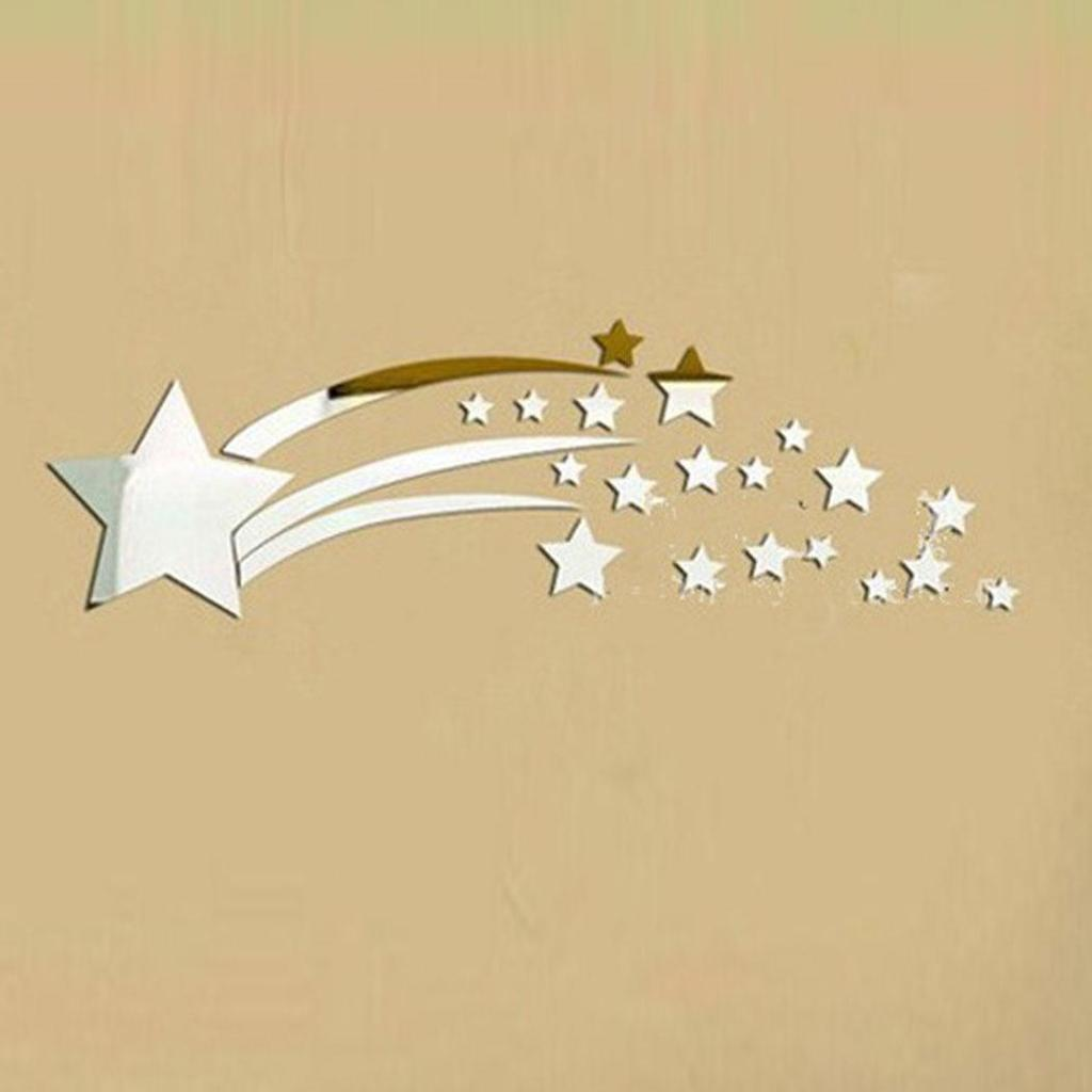 Modern Acrylic Star Removable Home Room Decor Wall Mirror Sticker ...