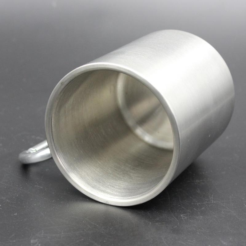 Stainless Steel Cup Camping Outdoor Cup Mug With Carabiner Hook Handle UKSS