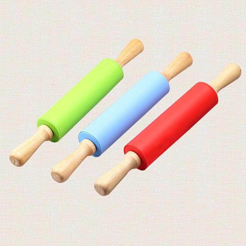 Sturdy Rolling Pin Wooden Roller Pizza Tool Handle Eco-friendly Pastry Roller