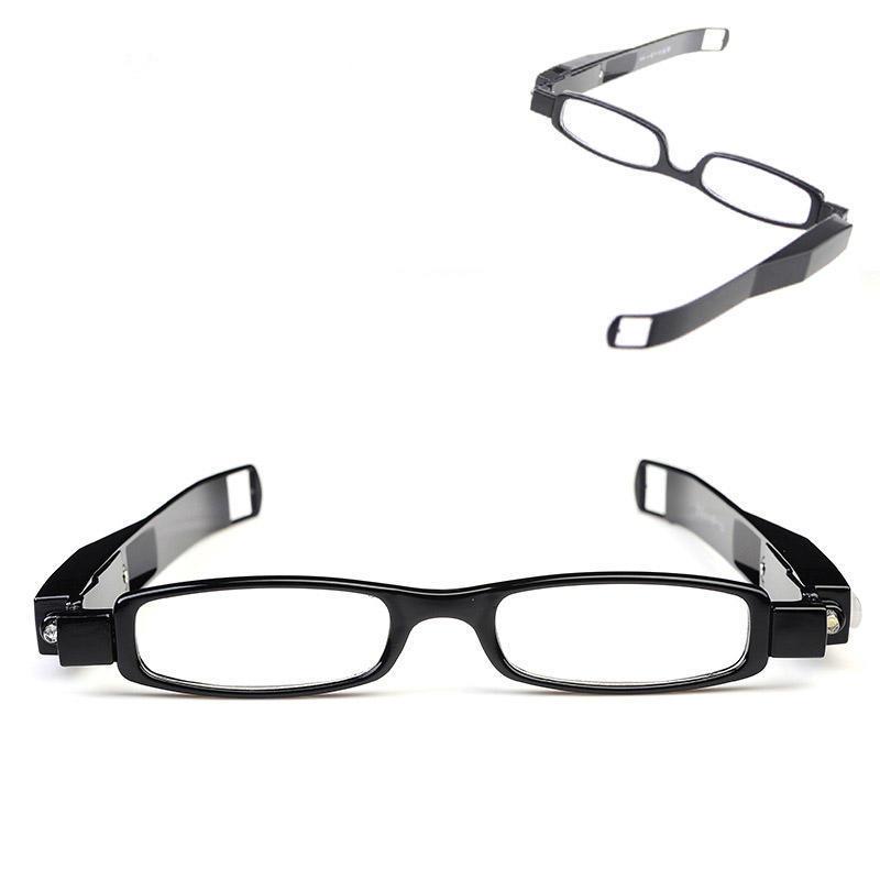 86c20de1a6 Presbicia fuerza LED gafas lente iluminan espectáculo dioptría lupa ...