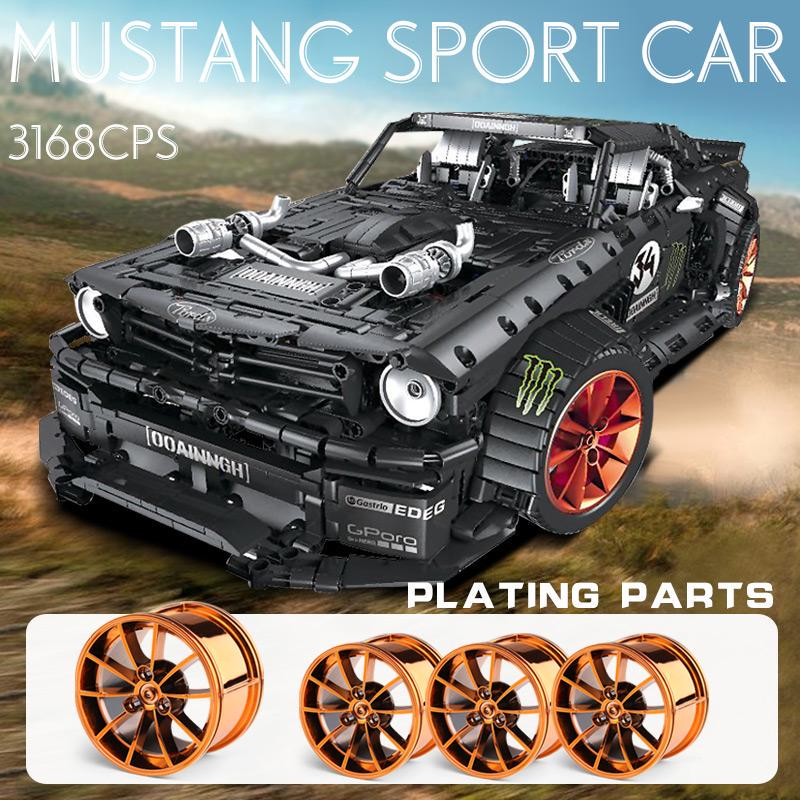 3168pcs MOC RC Ford Mustang Hoonicorn RTR V2 Model Building Block Technic Gift