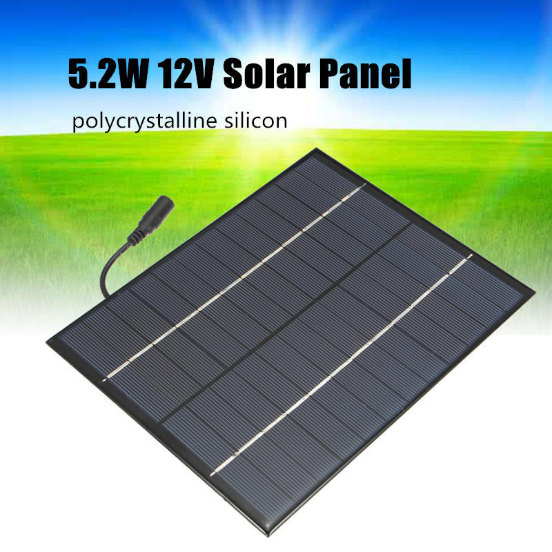 Universal Solar Panel DIY Polycrystalline Silicon Solar Battery Charger for Lamp