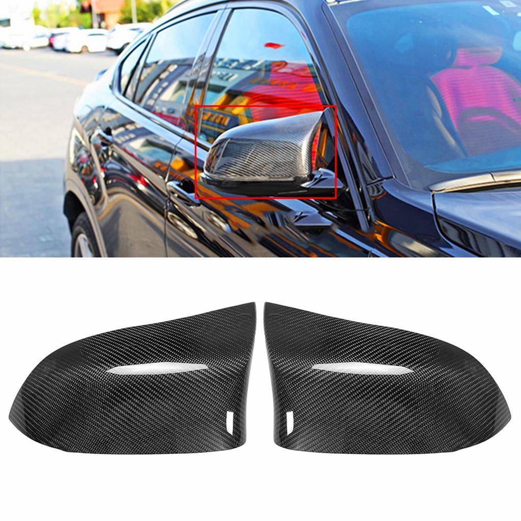 2PCS Real Carbon Fiber Trim Cover For BMW X5 X6 2008-2013 Side Lower Outlet Vent