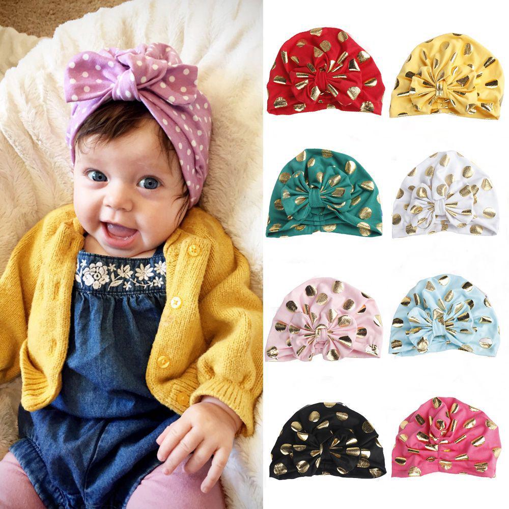 petits enfants garçon fille indian turban doux le velours bébé noués chapeau