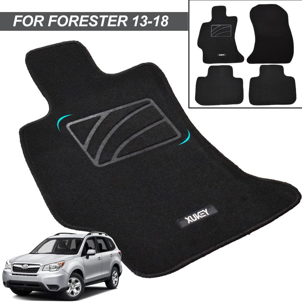 Passenger /& Rear Floor 2018 GGBAILEY D60195-S1A-BLK Custom Fit Car Mats for 2014 2017 2016 2015 2019 Subaru Forester Black Driver