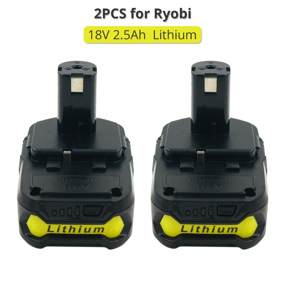 2Pack for Ryobi 18V 2.5Ah Li-ion Battery One Plus P102 P108 P104 BPL1820 RB18L25