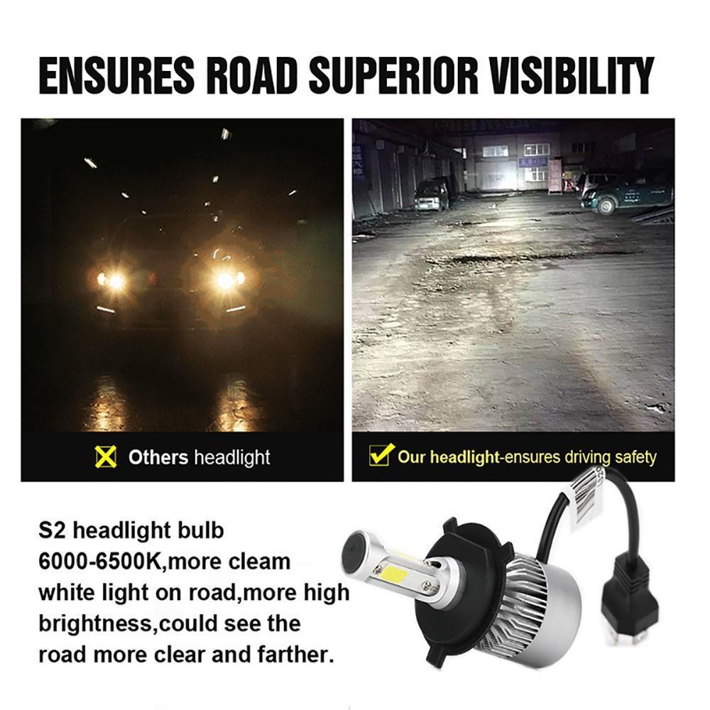 9005 9145 9140 H10 6000K 1500W 225000LM CREE LED Fog Light Bulb Headlight Kit US