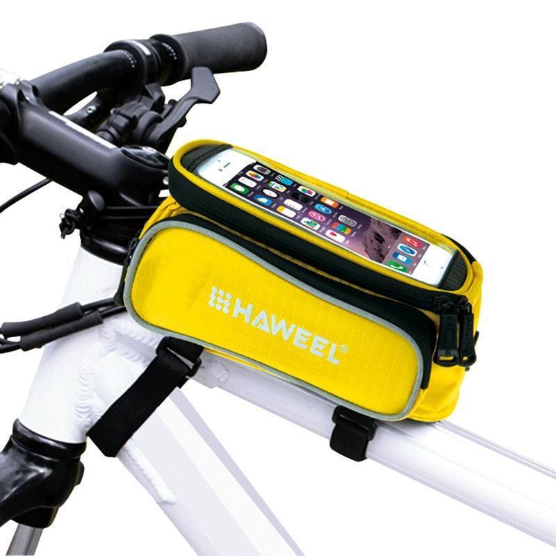 Wasserdichte Triangel Fahrrad Fahrrad Vorderrohr Rahmen Tasche Satteltasch YLW