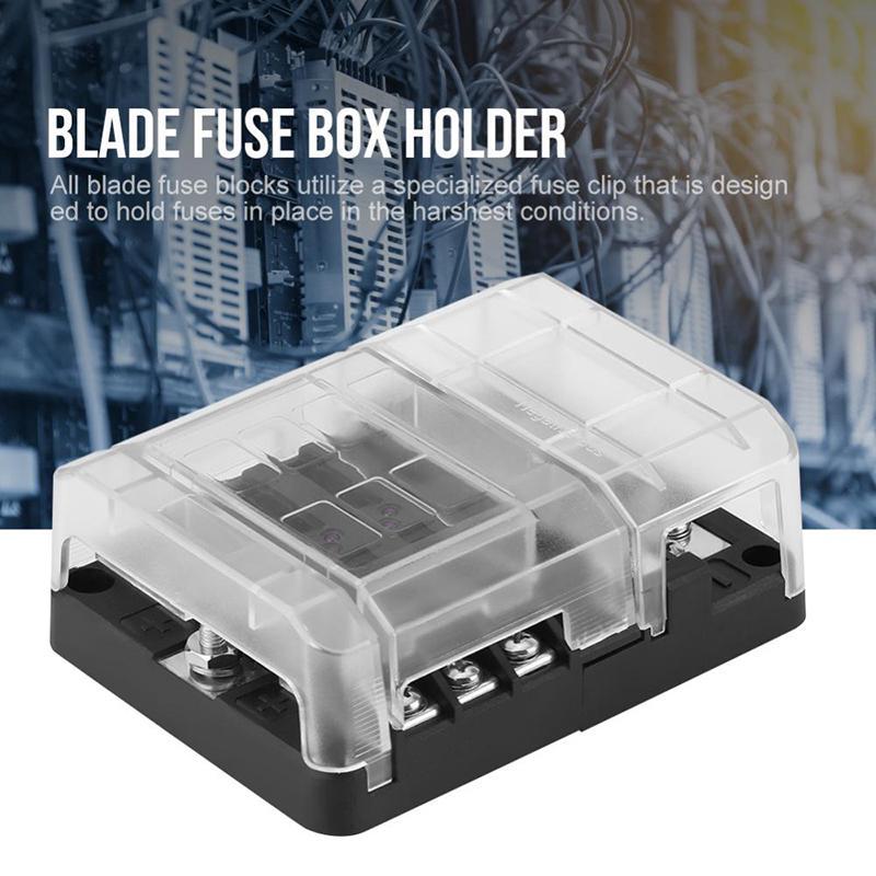 6 Way Car Marine Boat Bus Blade Fuse Box Block Cover 32V LED Indicators-buy  at a low prices on Joom e-commerce platformJoom