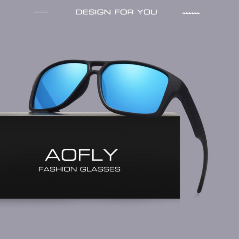 AOFLY Polarized Sunglasses Mens Cool Vintage Brand Design Male Sunglasses Polaroid Lenses
