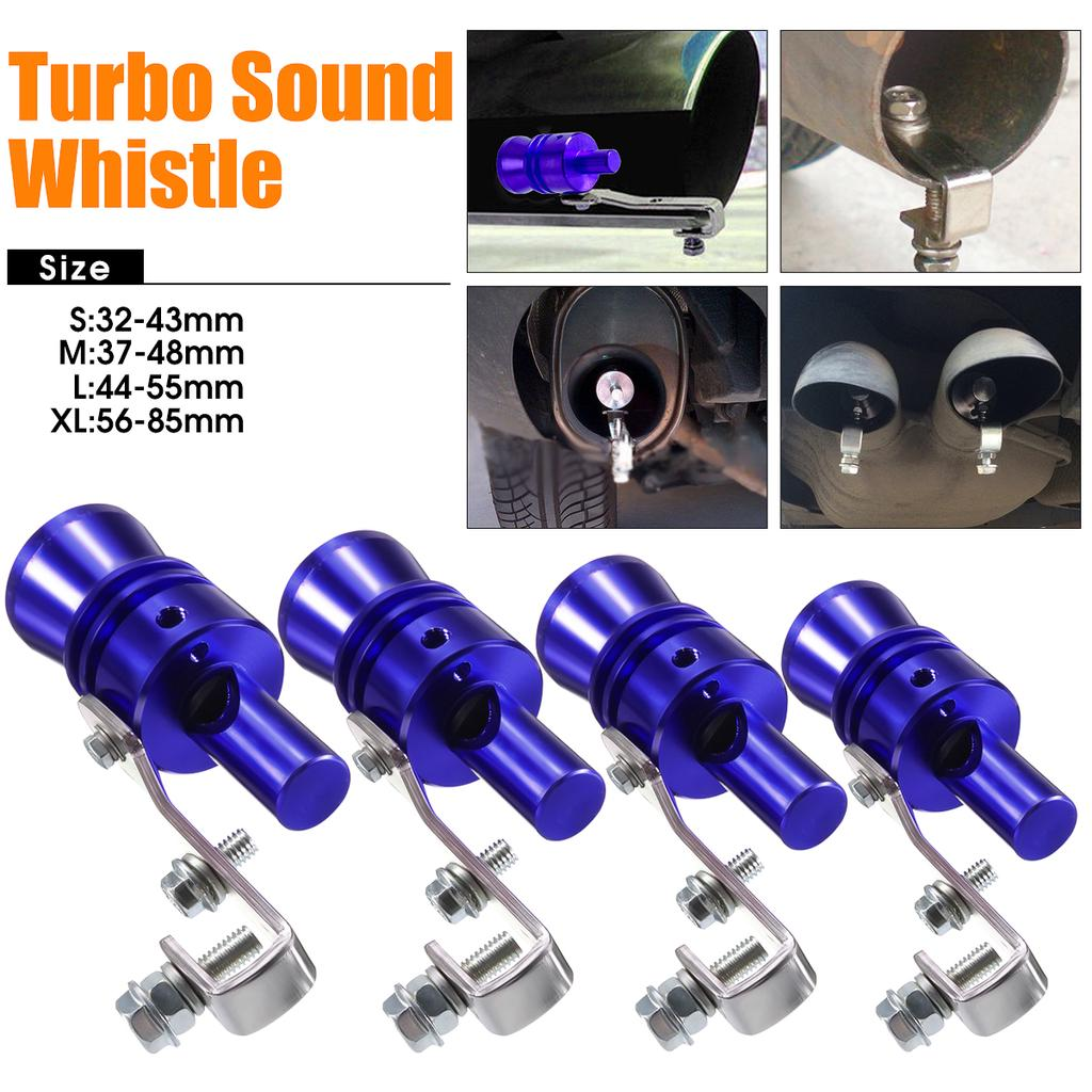 Turbo sound simulator whistle car vehicle s m l xl exhaust pipe sound  muffler bov blow off valve blue universal