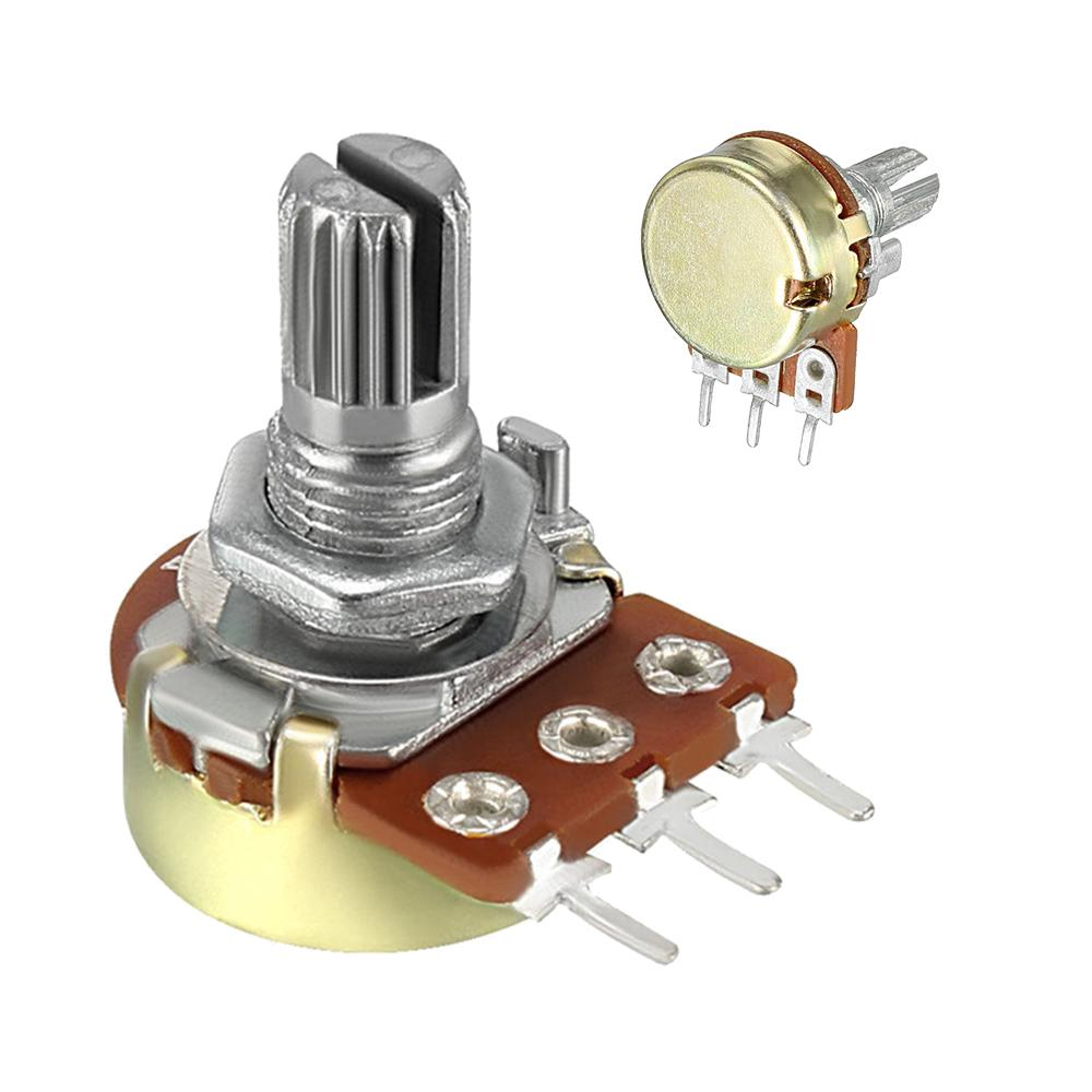 10 pcs B50K Ohm Linear Taper Rotary Potentiometer Pot 15mm Shaft 3 Pins
