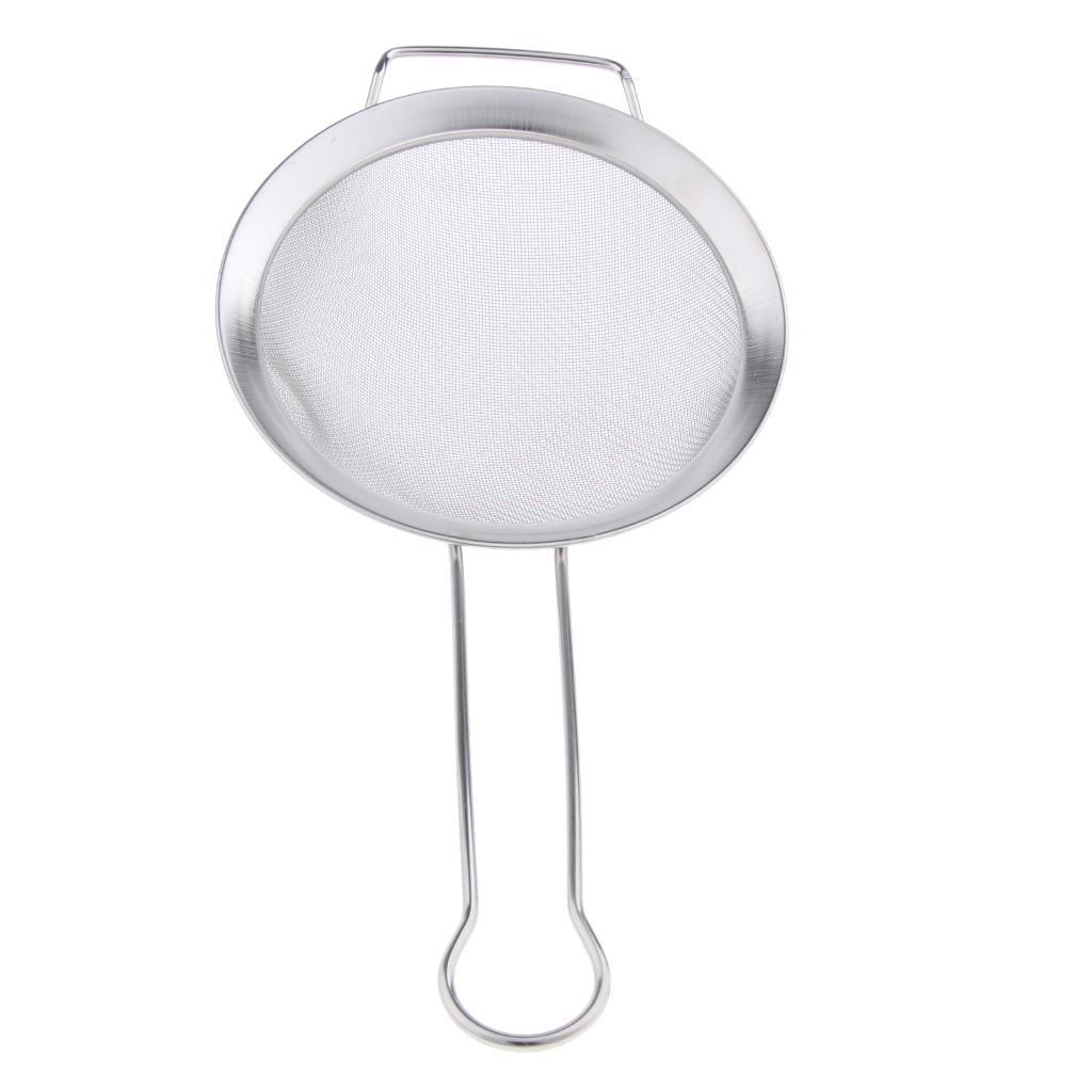Stainless Steel Kitchenware Cooking Fine Mesh Oil Skimmer Strainer 20*10cm/_ti