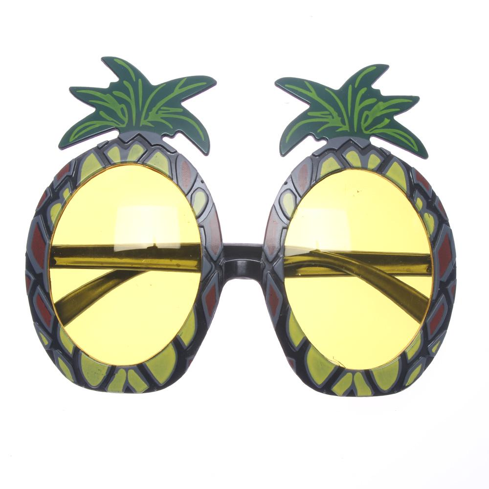 Unisex Pineapple Glasses Hawaiian Fancy Dress Tropical Beach Wear Sunglasses