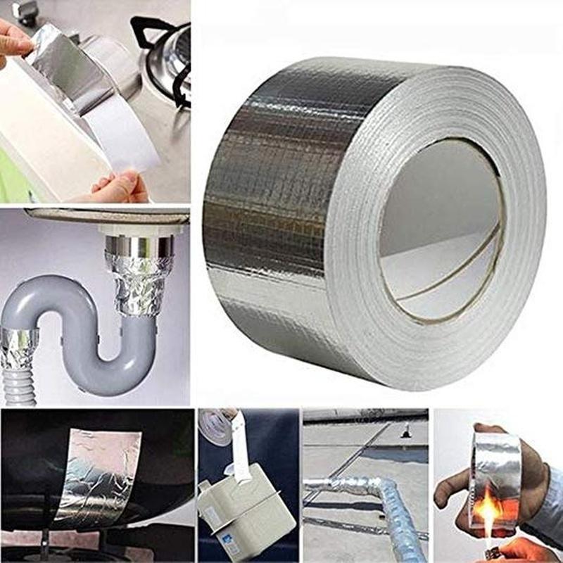 Cinta de goma de aluminio de butilo resistente al agua para reparaci/ón de tuber/ías de techo resistente a altas temperaturas autoadhesiva 10 m