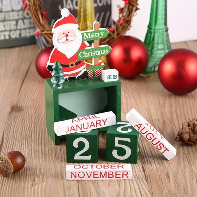 Creative Cute Calendar Non Toxic Christmas Decorations Ornaments Home Office Table Wood Calendar Party Supply Buy At A Low Prices On Joom E Commerce Platform