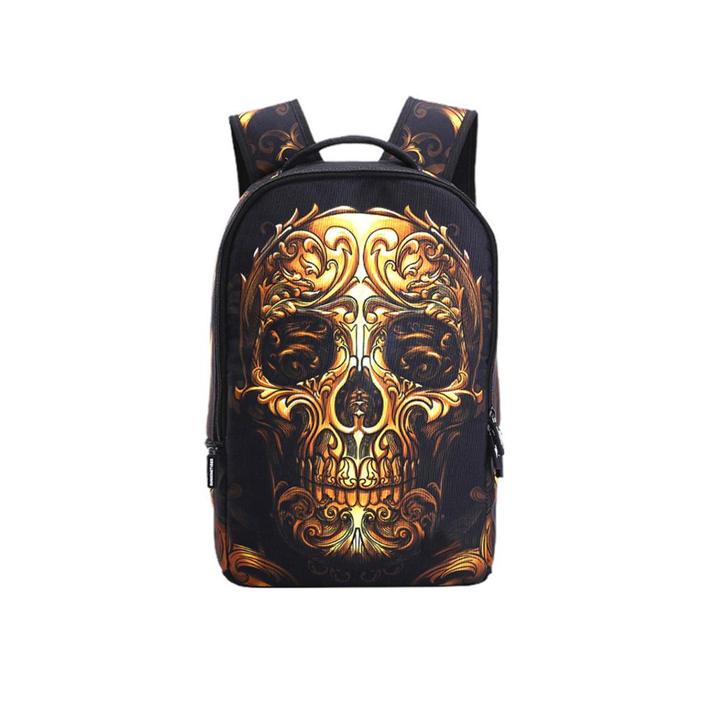 Backpack Rucksack Travel Daypack Music Skull Wing Book Bag Casual Travel Waterproof