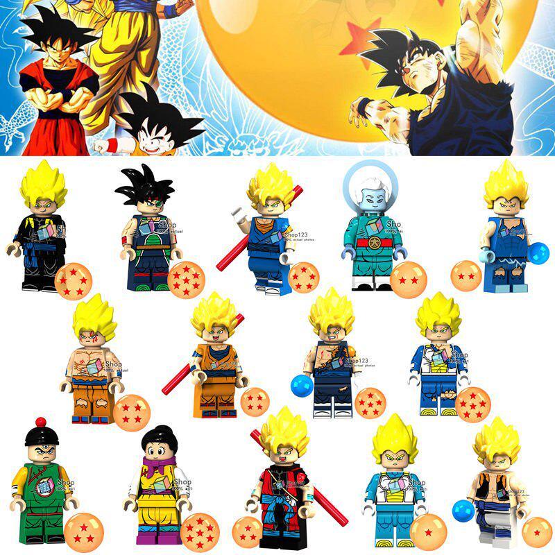 14pcs Lot Anime Dragon Ball Goku Son Goten Chichi Tien Shinhan