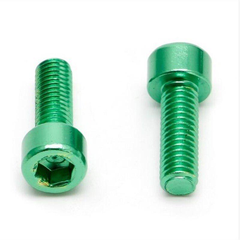 2Pieces Water Bottle Cage Bolts Holder Screws Hex Socket Screws Aluminum Alloy.