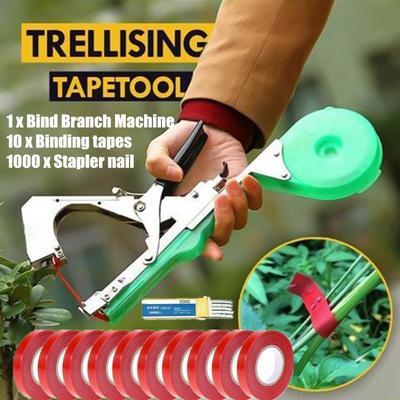 Potable Plant Hand Tying Tape Tool Tapener Machine Garden Plant Branch